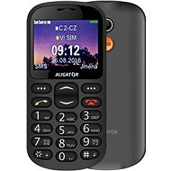 Aligator A880 GPS Senior čierny + stolová nabíjačka - Mobilný telefón