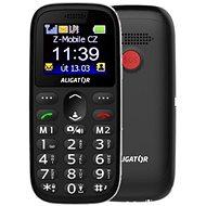 Aligator A510 Senior čierny + stolná nabíjačka - Mobilný telefón