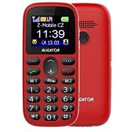 Aligator A510 Senior červený + stolná nabíjačka - Mobilný telefón