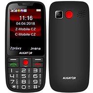 ALIGATOR A890 Senior čierny - Mobilný telefón