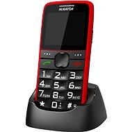 Aligator A675 Senior červený - Mobilný telefón