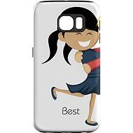 """MojePouzdro """"Najlepší priateľ 1"""" + ochranné sklo pre Samsung Galaxy S6 - Ochranný kryt by Alza"""