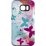 """MojePouzdro """"Biely motýľ"""" + ochranné sklo pre Samsung Galaxy S7 - Ochranný kryt by Alza"""