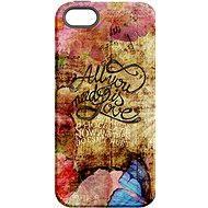 """MojePuzdro """"Láska je Všetko"""" + ochranné sklo na iPhone 5s/SE - Ochranný kryt by Alza"""