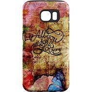 """MojePuzdro """"Láska je Všetko"""" + ochranná fólia na Samsung Galaxy S7 Edge - Ochranný kryt by Alza"""