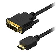 AlzaPower DVI-D na HDMI Single Link prepojovací 2 m - Video kábel