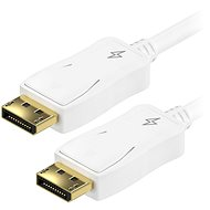 AlzaPower DisplayPort (M) na DisplayPort (M) prepojovací 3 m biely - Video kábel