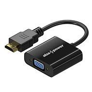 AlzaPower HDMI (M) na VGA (F) 0,1 m lesklá čierna - Redukcia