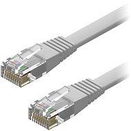 AlzaPower Patch CAT6 UTP Flat 2 m sivý - Sieťový kábel