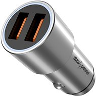 AlzaPower Car Charger, X520 Fast Charge, Silver - Car Charger