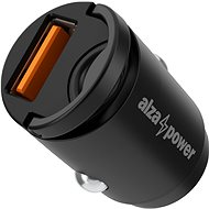 AlzaPower Car Charger M110 Fast Charge Mini čierna - Nabíjačka do auta