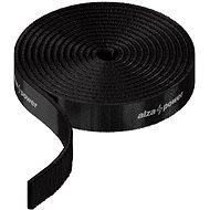 Organizér káblov AlzaPower VelcroStrap+ Roll 1 m čierny - Organizér kabelů
