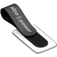 Organizér káblov AlzaPower VelcroStrap+ with Tag 10 pcs čierny - Organizér kabelů