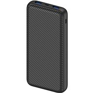 AlzaPower Carbon 20000 mAh Fast Charge + PD3.0 Black - Power Bank