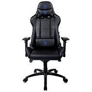 AROZZI VERONA Signature PU čierna s modrým logom - Herná stolička