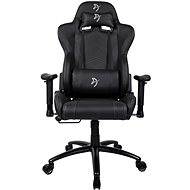 AROZZI INIZIO Black PU čierna so sivým logom - Herná stolička