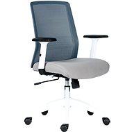 ANTARES Novello bielo/sivá - Kancelárska stolička