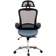 ARTIUM DRACO čierno/modrá - Kancelárska stolička