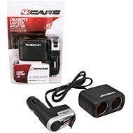 4CARS Roztrojka zapaľovača kombinovaná 12/24V S USB - Autoadaptér