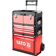 YATO Vozík na náradie, 3 sekcie, 2 zásuvky - Vozík