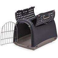 IMAC - Prepravka pre mačky a psov, plastová hnedá, 50 × 32 × 34,5 cm - Prepravka pre mačku