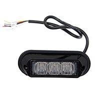 Výstražné svetlo 3× LED oranžové 12/24 V – zábleskové - Maják