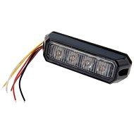 Výstražné svetlo 4× LED oranžové 12/24 V – zábleskové - Maják