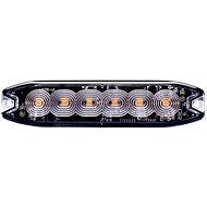 Výstražné svetlo oranžové, 6× LED SLIM - Maják