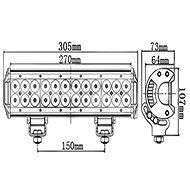 VAPOL Svetelná LED rampa, 72 W, 7200 lm - Pracovné svetlo