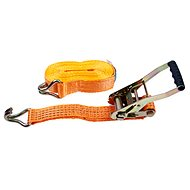 Upínacie popruhy s račňou LC2500 daN 5t/10m pás 50mm ORANŽ - Upínací popruh