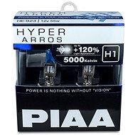 PIAA Hyper Arros 5000K H1 + 120 % jasne biele svetlo s teplotou 5000K, 2 ks - Autožiarovka