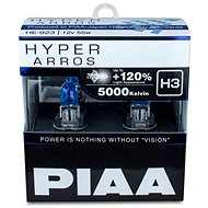 PIAA Hyper Arros 5000K H3 + 120%. Bright White Light at a Temperature of 5000K, 2pcs - Car Bulb