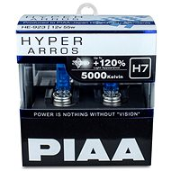 PIAA Hyper Arros 5000K H7 + 120%, jasne biele svetlo s teplotou 5000K, 2 ks - Autožiarovka