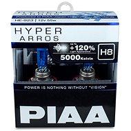 PIAA Hyper Arros 5000K H8 + 120%, jasne biele svetlo s teplotou 5000K, 2 ks - Autožiarovka