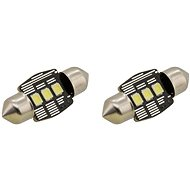 COMPASS Car Bulb 3 LED SMD 12V suf.11X32 SV8.5 NEW-CAN-BUS, White, 2pcs