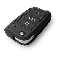 Ochranné silikonové puzdro na klúč pre VW/Seat/Škoda novšia generácia, s vystrelovacím klúčom, farieb - Obal na kľúče od auta