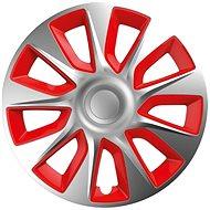 """Versaco puklice Stratos silver/red 14"""" sada 4 ks - Puklice na kolesá"""