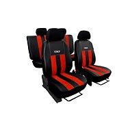 Sixtol Autopoťahy kožené s alcantarou GT tehlovo červené - Autopoťahy