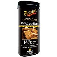 MEGUIAR'S Gold Class Rich Leather Wipes - Čistiace utierky