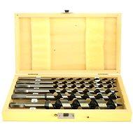 Vrtáky hadovité do dreva, súprava 6 ks, 6–250 mm, dĺžka 230 mm, v drevenej kazete - Vrták