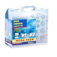 COMPASS MEGA H1 + H7 + poistky, náhradná súprava 12 V - Autožiarovka
