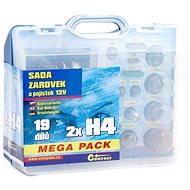 COMPASS MEGA H4+H4+poistky, náhradná súprava 12 V - Autožiarovka