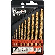 YATO Sada vrtákov do železa HSS-TiN 10 ks 1–10 mm - Sada vrtákov