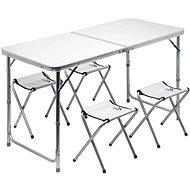 Cattara DOUBLE sivý + 4× stolička - Stolík