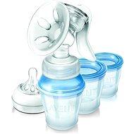 Philips AVENT Manuálna odsávačka Natural + VIA poháriky 180 ml - Odsávačka na mlieko