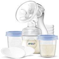Philips AVENT Manuálna odsávačka Natural 125 ml + VIA poháriky 180 ml – 5 ks - Odsávačka materského mlieka