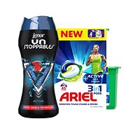 LENOR Unstoppables Sport 210 g + ARIEL Active Sport 3in1 45 ks - Sada