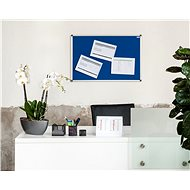 AVELI 90 × 60 cm modrá, hliníkový rám - Nástenka