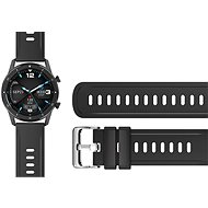 Aligator Watch 22 mm silikónový remienok čierny - Remienok