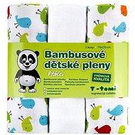 T-tomi Pleny bambusové 3 ks – vtáčiky - Detské plienky